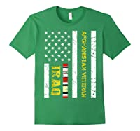Proud Iraq Afghanistan Veteran Flag Gifts For Veteran Day T Shirt Forest Green