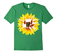 Share Love With Sunflower For And Shirts Forest Green
