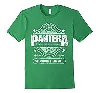 Pantera Stronger Than All Beer Mat Shirts Forest Green