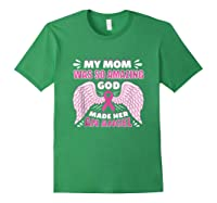Mother S Memory Breast Cancer Awareness Month Pink Ribbon Tank Top Shirts Forest Green