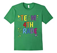 Team 4th Fourth Grade Tea 1st Day Of School T Shirt Forest Green