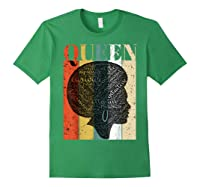 African American Queen T Shirt Black History Urban Soul Tees Forest Green