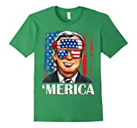 Joe Biden 2020 Merica 4th Of July Independence Day Usa T Shirt Forest Green