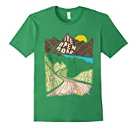 Road Trip 2019 Adventure Awaits Family Summer Vacation Gift Shirts Forest Green