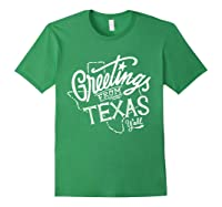 Greetings From Texas American Shirts Forest Green