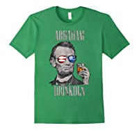 4th Of July Shirts For Abraham Drinkoln Abe Lincoln Tee T Shirt Forest Green