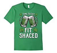 Shaced Tshirt Saint Patrick S Day Gift Shaced Shirt Forest Green