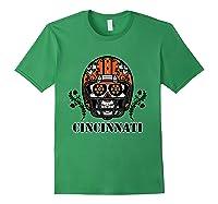 Cincinnati Football Helmet Sugar Skull Day Of The Dead T Shirt Forest Green