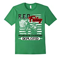 Red Friday Remember Everyone Deployed Shirts Forest Green