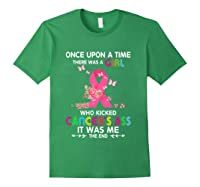 Breast Cancer Awareness A Girl Who Kicked Cancer S Ass T Shirt Forest Green