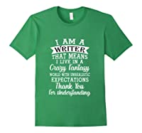 I M A Writer Gift For Authors Novelists Literature Funny T Shirt Forest Green