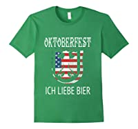 German Eagle Deutschland Us Flag Oktoberfest Shirts Forest Green