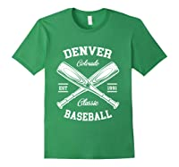 Denver Baseball, Classic Vintage Colorado Retro Fans Gift T-shirt Forest Green