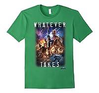 Marvel Avengers Endgame Movie Poster Whatever It Takes T-shirt Forest Green