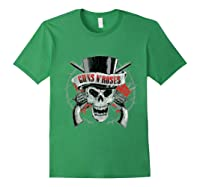 Guns N' Roses Top Hat Skull T-shirt Forest Green
