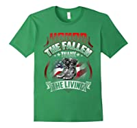 Memorial Day Honor The Fallen Thank The Living Veteran Shirts Forest Green