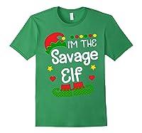I'm The Sassy Elf Shirt Christmas Family Elf Costume Tee Forest Green