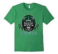 Philadelphia Football Helmet Sugar Skull Day Of The Dead T Shirt Forest Green