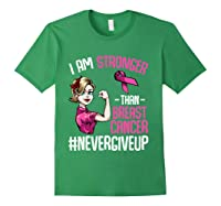 Breast Cancer Awareness Month Shirt For I Am Stronger T Shirt Forest Green