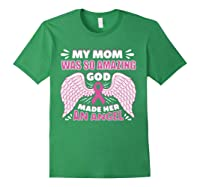 Mother S Memory Breast Cancer Awareness Month Pink Ribbon T Shirt Forest Green