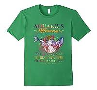 Aquarius Woman The Soul Of A Mermaid T Shirt Birthday Tees Forest Green