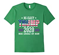 Trump 2020 Make Liberals Cry Again Donald Trump Election T Shirt Forest Green