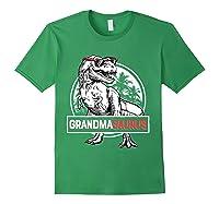 Grandmasaurus T Rex Grandma Saurus Dinosaur Grandmom Shirts Forest Green