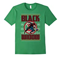 Black Widow Ugly Christmas Sweater Shirts Forest Green