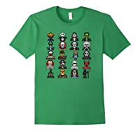 Friends Cartoon Halloween Character Scary Horror Movies Pullover Shirts Forest Green