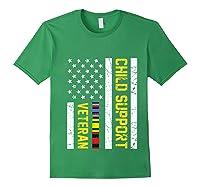 Child Support Veteran Tshirt Veteran Day Gift Pullover Forest Green