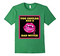 Lips You Coulda Had A Bad Witch Funny Halloween Gift T-shirt Forest Green