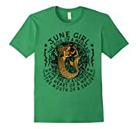 June Girl The Soul Of A Mermaid Tshirt Funny Gifts Forest Green