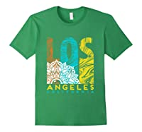 Los Angeles Shirt California City Los Angeles T Shirt Forest Green