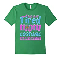 Tired Mom Scary Costume Shirt | Halloween Spider Bat Forest Green