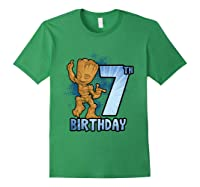 Guardians Of The Galaxy Baby Groot 7th Birthday Shirts Forest Green