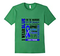 I Wear Blue For The Warriors Usher Syndrome Awareness Pullover Shirts Forest Green