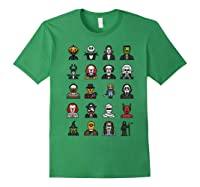 Friends Cartoon Halloween Character Scary Horror Movies Shirts Forest Green