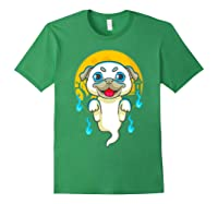 Cute Pug Dog Lover Ghost Funny Halloween Costume Gifts Shirts Forest Green