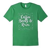Coffee Books Rain Novelty Shirts Forest Green