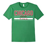 Chicago Flag T Shirt The Windy City Illinois Tee Forest Green