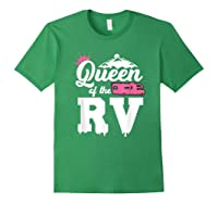 Queen Of The Rv Outdoor Camper Partner Gifts Shirts Forest Green