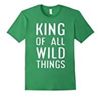 Funny King Of All Wild Things Cute 1st Birthday Shirt Forest Green