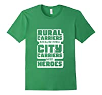 Rural Carriers Shirt Funny Postal Worker Postman T Shirts Forest Green
