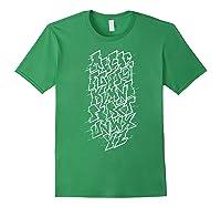 Grafi Tag Lettering Abc B-boy Streetart Urban Art T-shirt Forest Green