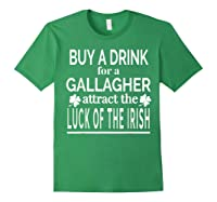 Gallagher Luck Of The Irish Namesake Family Gift T Shirt Forest Green