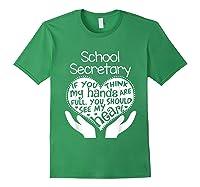 School Secretary Clerk Office Heart Group Gift Shirts Forest Green