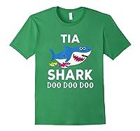Tia Shark Doo Doo Doo Matching Family Shirts Forest Green