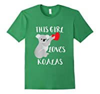 This Girl Loves Koalas Eucalyptus Bear Australia T-shirt Forest Green