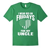 Red Fridays Deployed Uncle T-shirt Forest Green