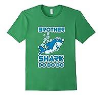 Baby Shark Doo Doo Doo Boy Family Brother Shark Shirts Forest Green